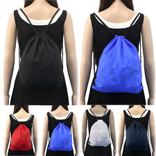 09Nylon Drawstring Cinch Sack Sport Travel Outdoor Unisex Backpacks Womens Bags