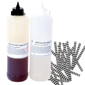 Gießharz, Schnell Reparatur Vergussmasse für Estrichsanierung, Estrichklammern