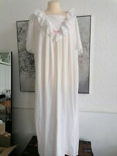 Vintage 90s debenhams  white Long Nightie Nightdress Size 14/16