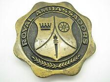 ROYAL AMBASSADORS Vintage Brass BELT BUCKLE Baptist Church BOYS ORGANIZATION
