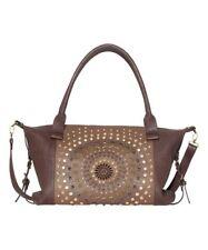 Desigual Womens Elga Chocolate Cross Body Satchel Tote Hand Bag Handbag