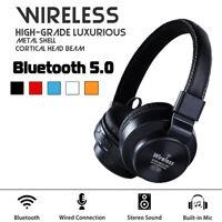 Foldable bluetooth 5.0 Headset Super Bass Headphone Wireless Anti-Noise Earphone