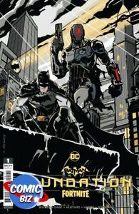 BATMAN FORTNITE FOUNDATION (2021) 1ST PRINT SCARCE 1:25 VARIANT COVER +GAME CODE