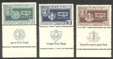 ISRAEL #28-30 Mint NH Tab Set - 1949 New Year