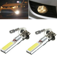 2Pcs H3 COB LED Bright Xenon White 6000K Car Auto Fog Light Lamp Bulb 12V Pip UK