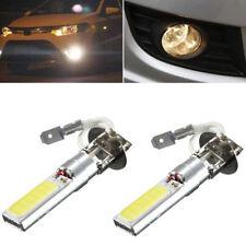 2Pcs H3 COB LED Bright Xenon White 6000K Car Auto Fog Light Lamp Bulb 12V EC