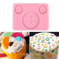 3D Button Silicone Fondant Mold Cake Decor Chocolate Sugarcraft Baking Mould