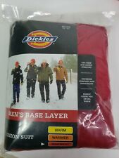 Dickies Men's Red union suit 4Xl Base Layer warmest tag free 8241 Long underwear