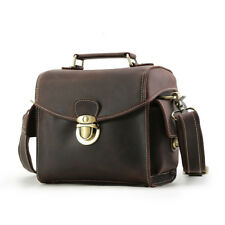 Men Real Leather Camera Bag For Canon Nikon DSLR Shoulder Messenger Bag Handbag