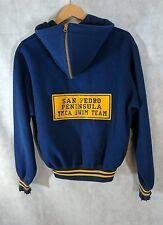 Vintage 40s San Pedro YMCA Swim Team Hoodie Jacket Los Angeles William Lane