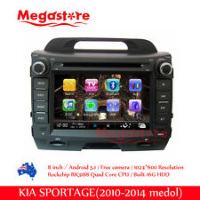 "8"" Android Car DVD GPS Head Uint Nav Quad Core For Kia Sportage 2010-2014"