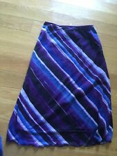 Wrapper Brand Skirt Purple Diagonal Stripes Size M