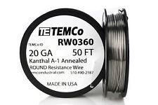 TEMCo Kanthal A1 wire 20 Gauge 50 Ft Resistance AWG A-1 ga