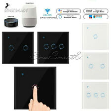 1/2/3 Gang WiFi Smart Light Switch Wall Remote Touch Control For Alexa Google
