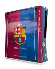 xBox 360 Slim Console Skin Sticker FC Barcelona Official Barca Football Club New
