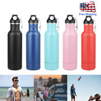 Double Wall Stainless Steel 12Oz Vacuum Flask Insulated Thermos Water Bottle Cup
