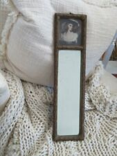 Gorgeous Old Vintage Trumeau Mirror French Lady Print at Top Small