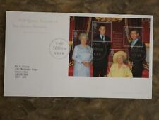 GB 2000 Queen Mother's 100th b'day miniature feuille first day cover: SG MS2161