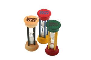 Redecker Zahnputzuhr Sanduhr aus Glas und Buchenholz 2 Minuten Laufzeit z1739