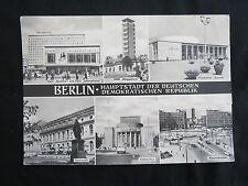 Berlin -Hauptstadt der DDR - alte VEB Großkarte von Berlin, unbeschriftet (t7)