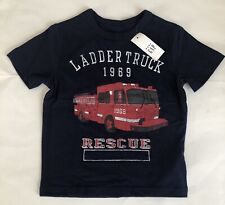 BABY GAP Blue FIRE LADDER Truck Shirt Top NEW NWT 3 3T 1969 Rescue Red