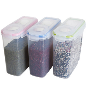 4 Dry Food Storage Container 4L for Cereal and Other Dry Foods Dispenser Kitchen