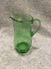 Green Glass Pitcher/ Creamer