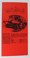 ALFA ROMEO 24 HP 1910 Oldtimer original prospectus publicité publicitaire carton 5.1 1848 dl9
