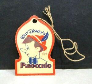 1939 Walt Disney Pinocchio Doll Knickerbocker Toys Hanger Tag Only