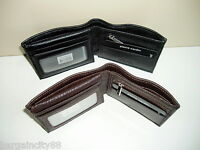 Pierre Cardin-RFID Blocking-Genuine Italian Leather-Men's Bifold Wallet+Gift Box