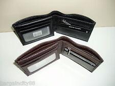 Pierre Cardin-RFID Blocking-Genuine Italian Leather-Men's Bifold Wallet+Gift Box