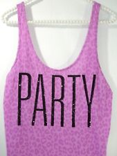 049f569a5c Victoria s Secret Pink Tank Top Beach X Small Coverup Shirt Sequin Leopard  Party