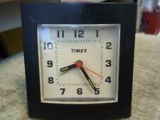 VINTAGE TIMEX BATTERY OP. ALARM CLOCK BIG BLACK NUMBERS GLOW IN DARK HANDS LIGHT