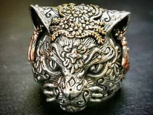 Leopard Ring,Sterling Silver, Leopard Face Ring,Pet Ring,Animals Jewellery