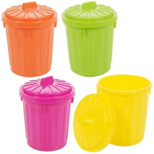 Small Plastic Colorful  Recycle Desk Tidy Rubbish Waste Bin With Lockable Lid