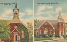 Laurel MD * 1st Methodist and Baptist Churches c 1940 * Prince Georges Co.