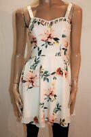 Ally Brand White Spring Floral Skater Dress Size 6 BNWT #RG90