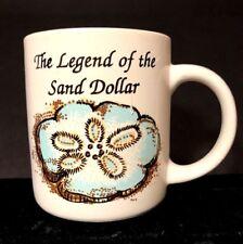 Legend of Sand Dollar Coffee Tea Ceramic Mug Poem Sea Shell Guiding Star EUC