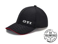 VW GTi Golf Polo GORRA DE BÉISBOL Negro Gorro Volkswagen Colección Genuino VAG