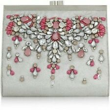 Monsoon Accessorize UK Women's Elizabeth Embellished Clip Frame Wristlet Clutch