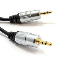 Premium OFC Pro Audio Metal 3.5mm Stereo Jack /Jack Aux Audio Cable 1m 2m 3m lot