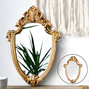 European Style Golden Makeup Mirror Oval Frame Dresser Mirrors Photo Props