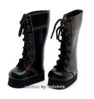 Boots Shoes for Magic Attic Club 18 inch Slim Dolls Lace-Up fits BJD Black Tall
