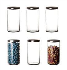 6x Vorratsgläser mit Metalldeckel 1,5L Aufbewahrungsgläser Glas Vorratsdosen Set