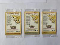 Joblot Moltres Articuno Zapdos Corrected Promo Pokemon Cards 21 22 23 New Sealed