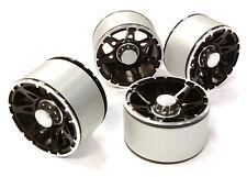 C26441BLACK High Mass 2.2 Alloy A7 Spoke Beadlock Wheel(4)for Scale Crawler