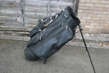 OLYO Black Carry Stand Golf Bag 6-Way 7 Pockets + Raincover Double Strap USED