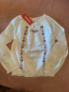 NWT Cowgirls at Heart Ivory Floral Embroidered Peasant Blouse Girls Sz 8