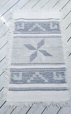 Woven churro wool tapestry rug southwest Navajo sheep Gray & Ivory 5'4 x 3'