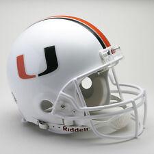 MIAMI HURRICANES NCAA Riddell ProLine Authentic VSR-4 Football Helmet